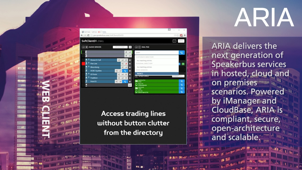 Virtual Trading dealerboard (ARIA) – Speakerbus