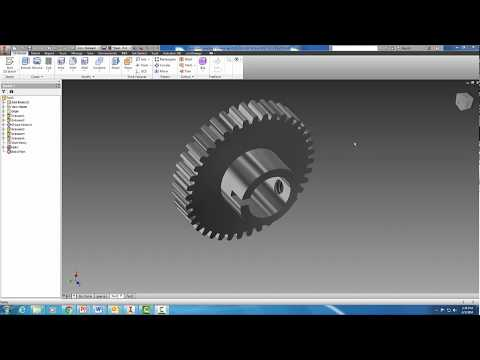 Creating a Spur Gear in Autodesk Inventor