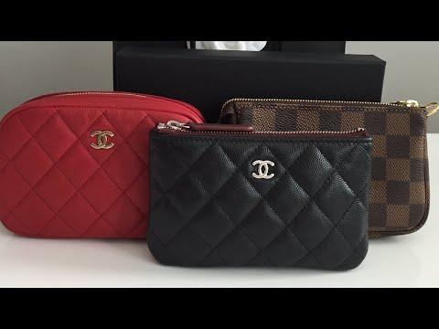 Chanel Black Caviar O Case Unboxing and O case VS Louis Vuitton Mini Pochette
