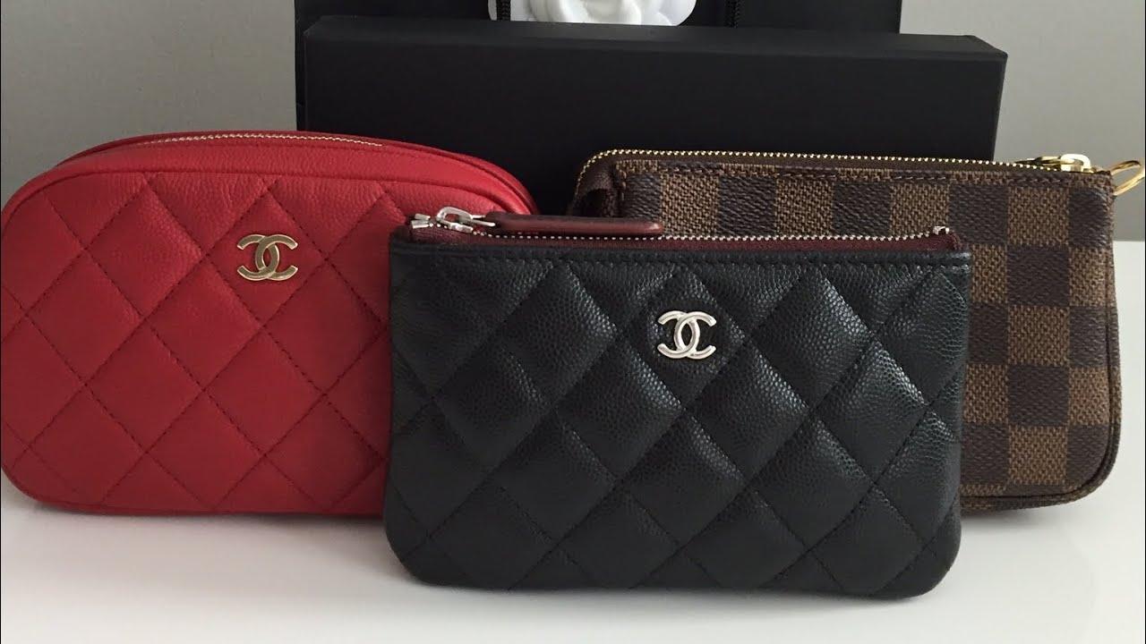 d7e57d3f4ed07e Chanel Black Caviar O Case Unboxing and O case VS Louis Vuitton Mini  Pochette