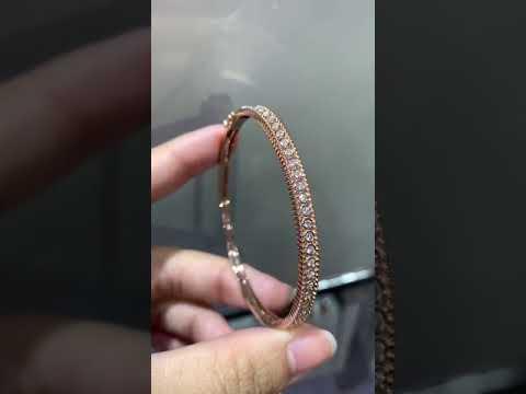custom 18k rose gold diamond bangle personalized bracelets jewelry factory
