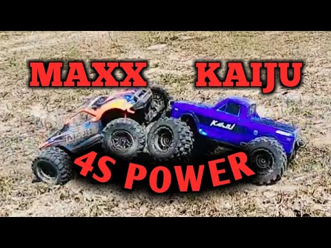TRAXXAS MAXX And REDCAT RACING KAIJU:Bashing RC Monster Trucks
