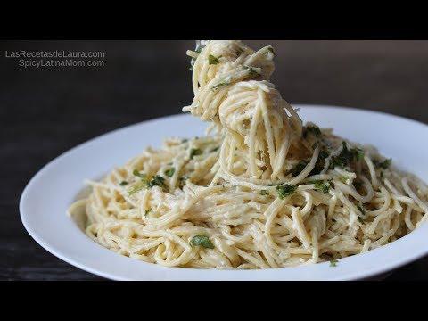 Mexican Creamy Jalapeño Spaghetti Recipe   Mexican Food - Spicy Latina Mom