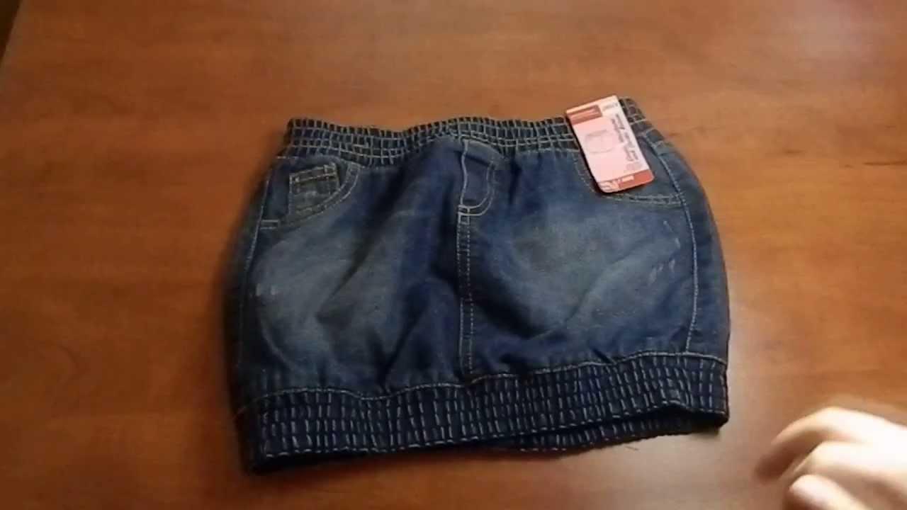 Юбка для девочки из джинсовой ткани своими руками