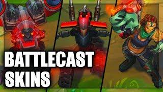 All Battlecast Skins Illaoi Skarner Cho'Gath Viktor Urgot Vel'Koz Kog'Maw Xerath (League of Legends)