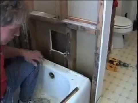 Bathroom Remodel Using Acrylic Bath System Youtube