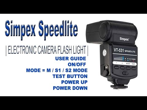 Simpex Speedlite | ELECTRONIC CAMERA FLASH LIGHT | BBS PRODUCTION