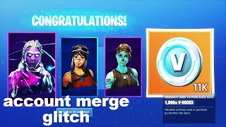 I tried a ACCOUNT MERGE glitch in Fortnite and this happened..