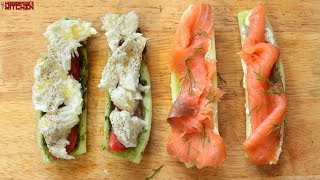 Cucumber Sub Sandwich 2 Ways | Keto Recipes | Headbanger's Kitchen