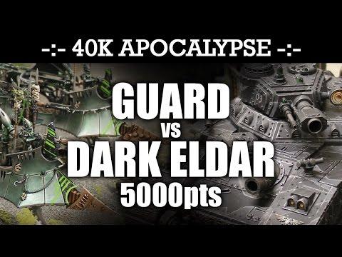 Repeat APOCALYPSE Imperial Guard vs Dark Eldar 40K Battle