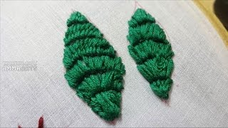 Embroidery Leaves Stitching Process By Amma Arts