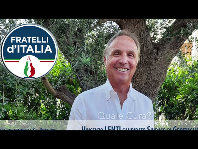 Elezioni Comunali 3 e 4 ottobre a Grottaglie. Intervista a Vincenzo Lenti Candidato Sindaco (FdI)