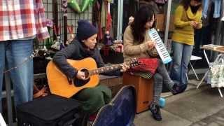 2014.3.2 ネコヤド商店街にて @古着屋shirabe前.