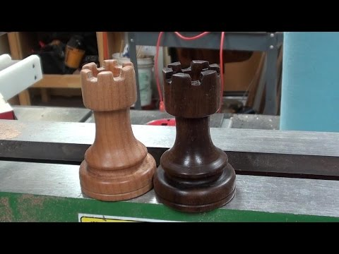 Woodturning a Chess Set Rook in 5 Minutes