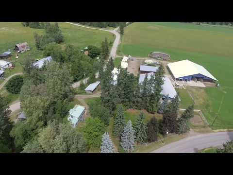 H P Cattle 🐄 Moving Their Dairy To Lumby Fall 2018 || Aerial Footage