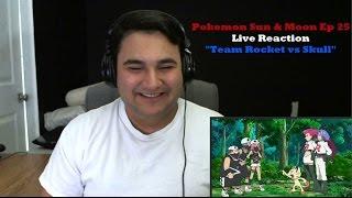 """Pokemon Sun & Moon Episode 25 Live Reaction """"Rocket vs Skull"""""""