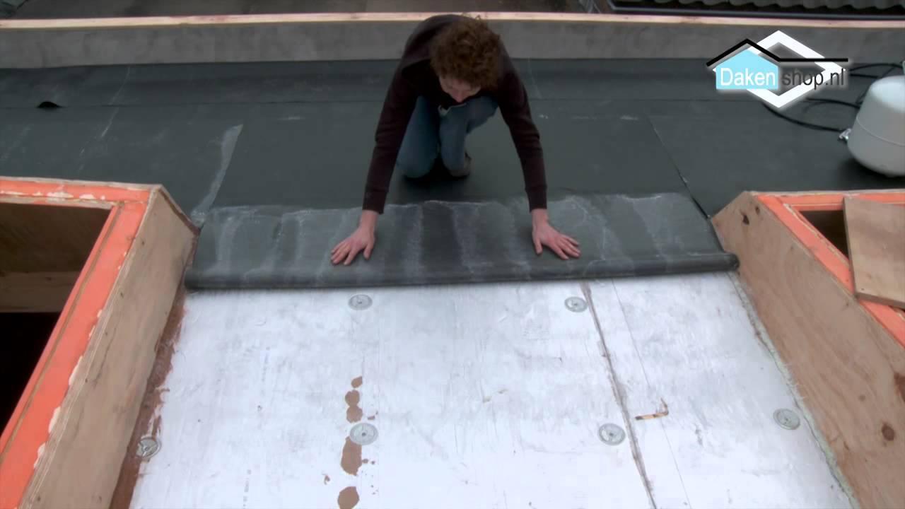 Epdm op roofing plaatsen
