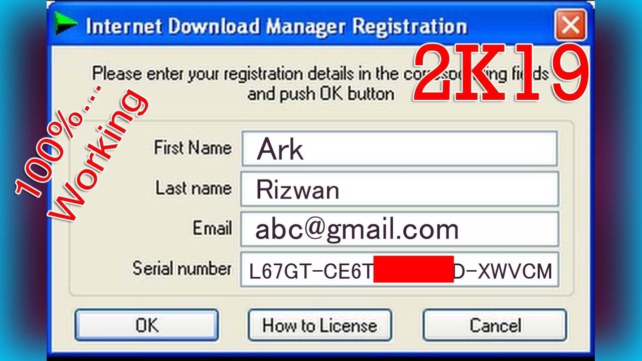 idm free download serial number registration