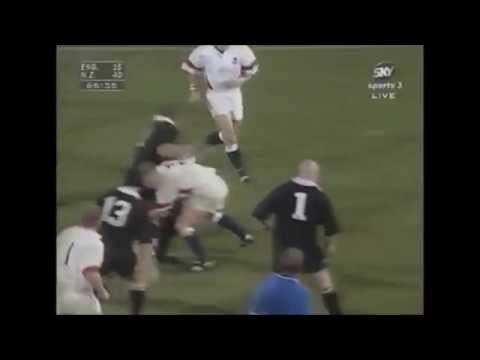 Neil Back becomes one of the few to have hit Lomu backwards