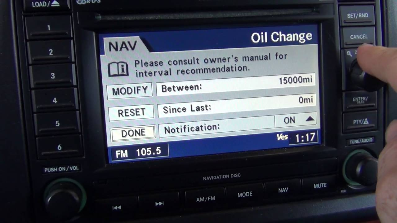 2005 jeep grand cherokee oil changed resetting the rec unit rh youtube com 2006 Jeep Commander Navigation Disc 2013 Jeep Wrangler Navigation