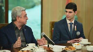 Նախագահ Սերժ Սարգսյանի հանդիպումը զորացրված զինծառայողների հետ
