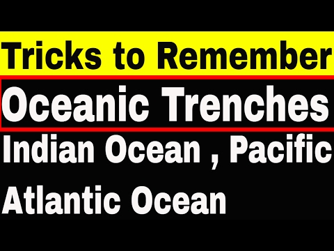 Tricks to Remember Oceanic Trenches | Indian ocean | Atlantic ocean | Pacific ocean