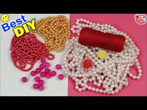 Door Hanging Toran Making Using Pearls || DIY Designer Toran Making At Home || Home Decoration Ideas