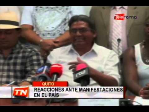 Reacciones ante manifestaciones en el País