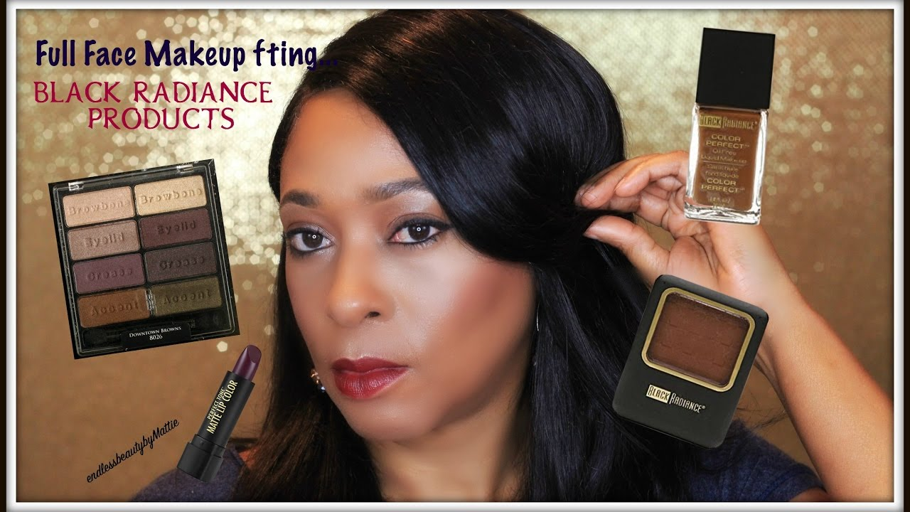 Full Face Downtown Browns Makeup Tutorial Drugstore Black Radiance