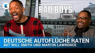 Will Smith & Maŗtin Lawrence erraten deutsche Autoflüche | Bad Boys For Life