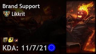 Brand Support vs Nautilus - Likkrit - EUW Challenger Patch 7.3