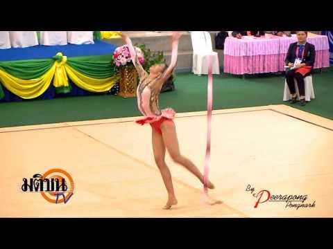 กีฬาแห่งชาติ สุพรรณบุรีเกมส์ ยิมนาสติก ประเภทอุปกรณ์ ริบบิ้น 12 01 57 LOGO มติขน TV