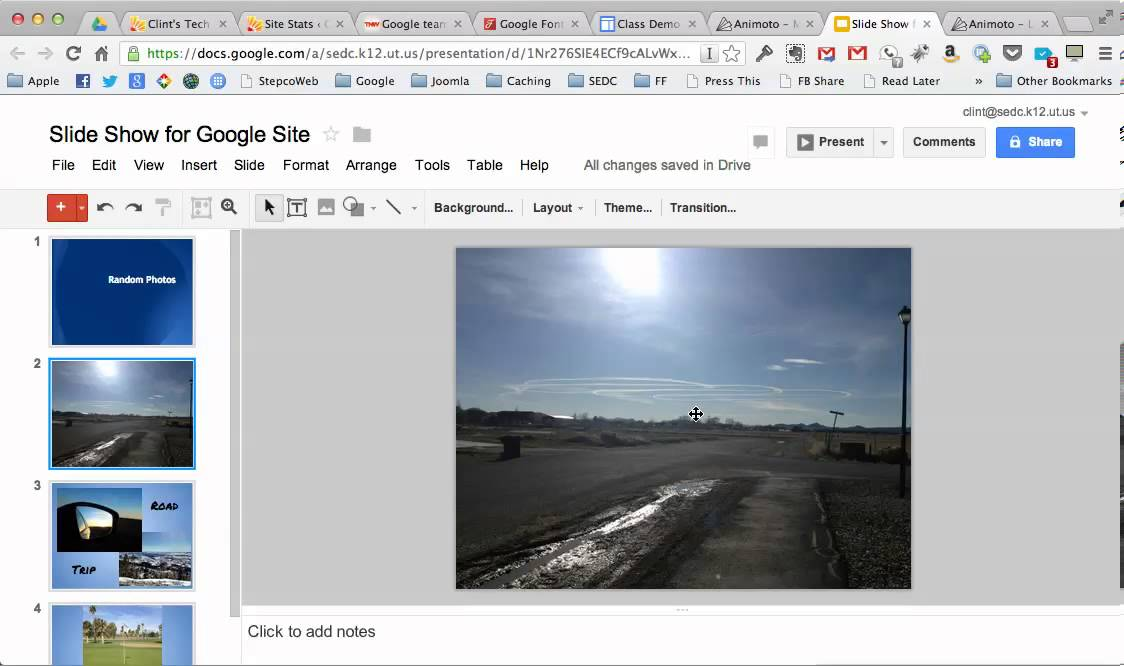 easy photo slideshows for google sites youtube