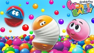 Colorful Bouncing Balls |Learn Colors with Ball Pit | Wonder Balls Circus | Cartoon for Kids