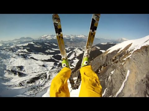 GoPro HD: Avalanche Cliff Jump With Matthias Giraud