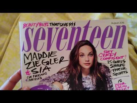SEVENTEEN magazine Flip thru Aug. 2016 Maddie Ziegler on cover!
