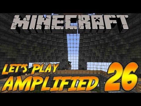 Minecraft Let's Play AMPLIFIED Survival Episode 26: Base Work