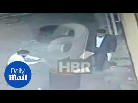 Men burn documents a day after Khashoggi's murder in Saudi Consulate