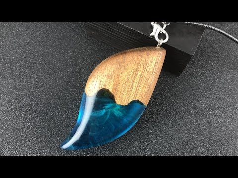 Resin art DIY| Charming DIY Graceful curve pendant | DIY jewelry pendant for Epoxy RESIN