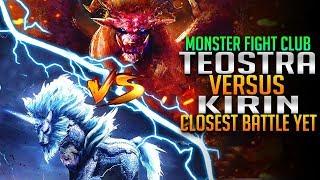 Kirin VS Teostra! Closest Battle Yet! Monster Hunter World PC Fight Club