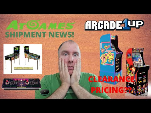 AtGames Shipping Update and Arcade1up Clearance title?? from PsykoGamer