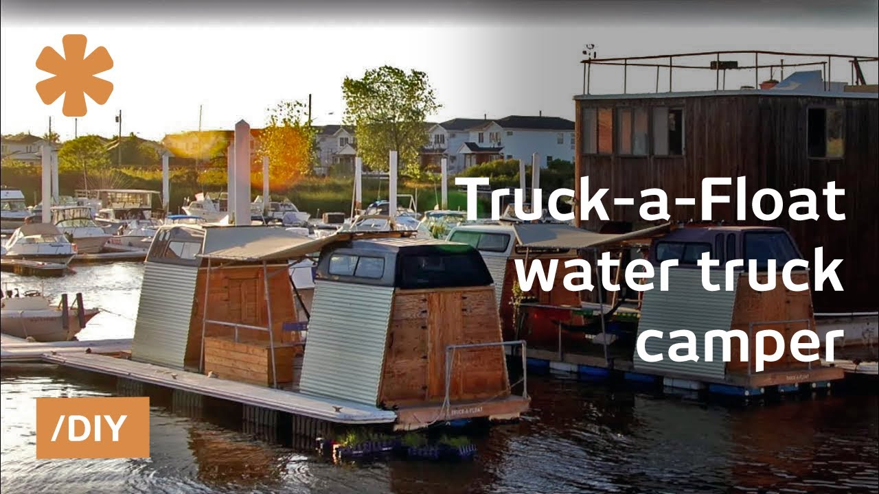 Waterworld done right: NY Truck-a-Float as truck/boat camper