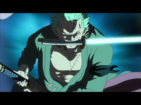 One piece luffy,zoro and sanji vs Kraken (English dub)