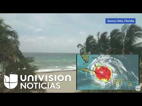 Así se ve Florida horas antes de la llegada del huracán Irma