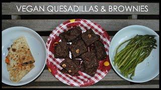 Sweet Potato Quesadillas + Chocolate Hazelnut Brownies
