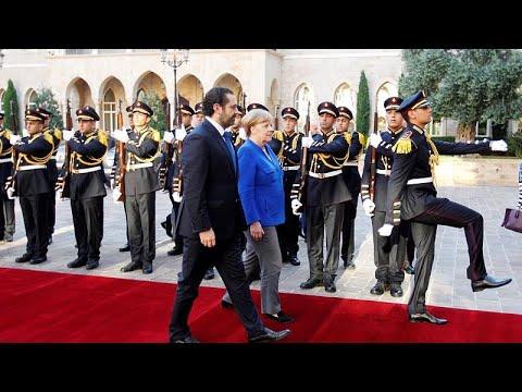 ميركل في لبنان لمناقشة أزمة اللاجئين والعلاقات الاقتصادية …  - 11:21-2018 / 6 / 22