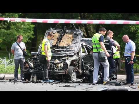 Forensic Teams Start Work After Kyiv Blast