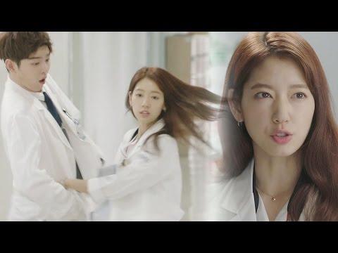 yoon-kyun-sang,-cute-reaction-at-park-shin-hye's-action-《the-doctors》-닥터스-ep07