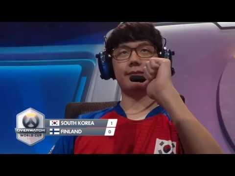 Overwatch World Cup 2016 South Korea vs Finland
