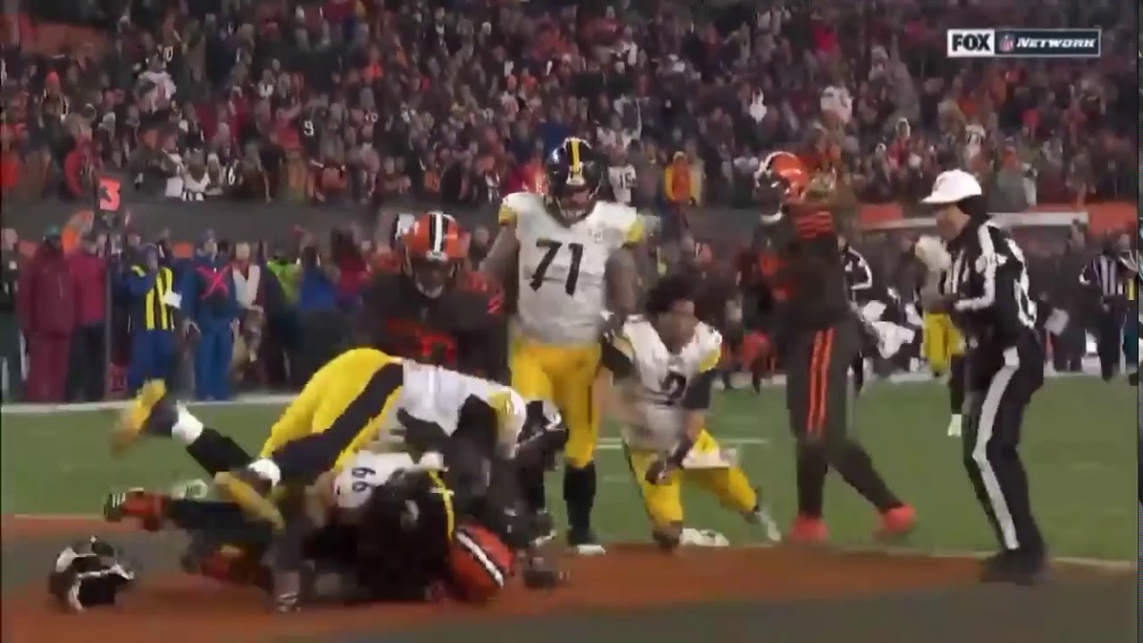 Steelers Vs Browns Fight 2019